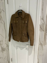 Banana Republic Women's Brown Leather Jacket Genuine Leather Size Small - $45.77