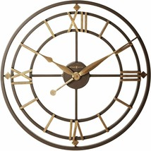 "Wall Clock 21.25"" Wrought Iron Roman Numerals Industrial Rustic Antiqued... - $320.00"