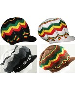Reggae Rasta Peak Sloucy Crown Jamaica Marley Dread Lock Hat 100% Cotton - $13.99