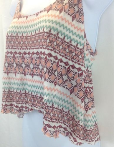 Express Multi-color High Low Top Cami Size Large image 4