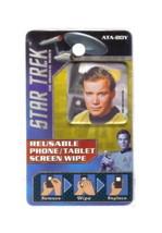 Star Trek Classic Kirk Photo Image Reusable Phone/Tablet Screen Wipe NEW UNUSED - $2.99