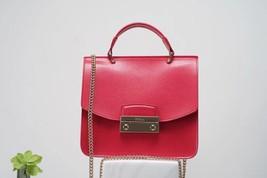 FURLA Julia Mini Top Handle Bag Peach Red Authentic - $265.00