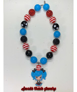 Dr Seuss Girl Clay Chunky Bubblegum Necklace - $19.00+
