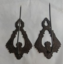 Pair of Victorian Era Decorative Receipt or Bill Hooks, Spindles Office - $14.01