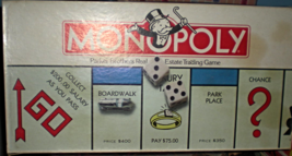 Monopoly Game -Parker Brothers Real Estate Trading Board Game   - $14.00