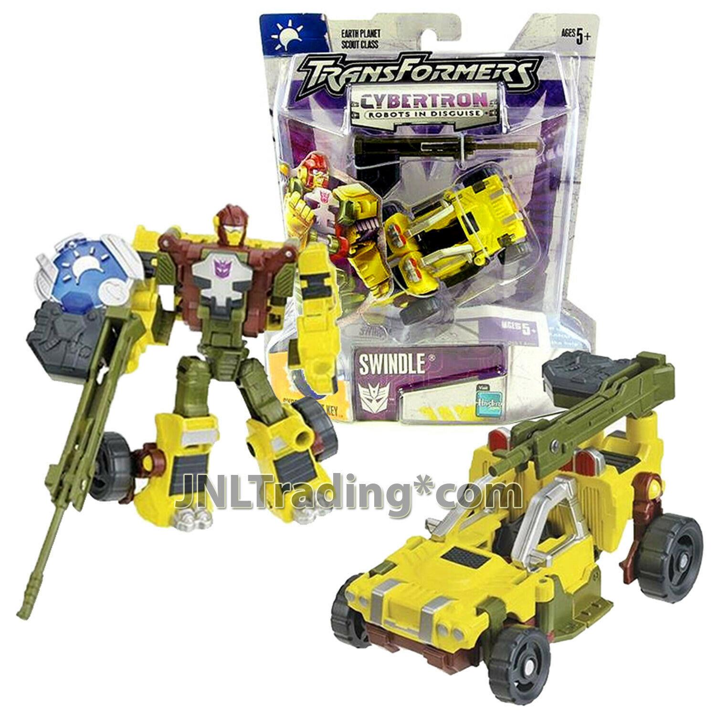 "Year 2005 Hasbro Transformers Cybertron Series Scout Class 4"" Figure SWINDLE"