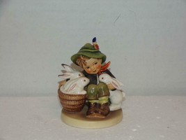 "Hummel Goebel ""PLAYMATES"" Figurine #58/0 TMK-3 W.Germany MINT!  Boy w/Ra... - $24.50"