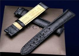 New Gucci 17 MM Black Crocodile Watch Band-(17.130) - $59.95