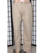 GREG NORMAN Men's 38 x 32 Khaki Tan Pleated Cuffed Golf Pants Trousers GUC - $24.18