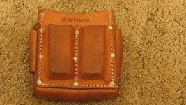 CRAFTSMAN ELECTRICIAN FIVE POCKET LEATHER POUCH WITH BELT LOOP 940463 - $22.72