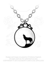 SteamPunk Victorian Alchemy Gothic Pewter Wolf Pendant Necklace, NEW UNUSED - $25.15