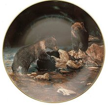 W.S. George Collector plate Natures Playmates Charles Frace Bear plate HJ118 - $31.84
