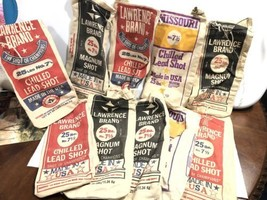 10 Empty Canvas Lawrence Brand 25# Lead Shot Bags - $19.79