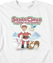 Santa Claus is Comin to Town Retro 70's Christmas TV Special Graphic tee DRM137 image 2
