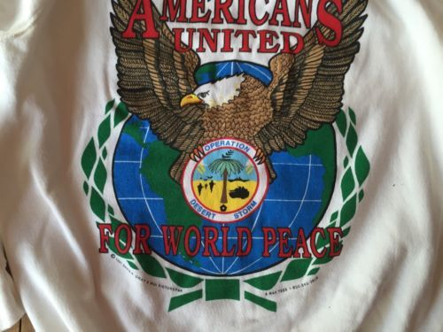 Sweatshirt Operation Desert Storm Americans United For World Peace XL 46-48 New