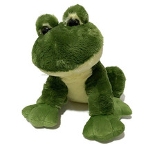 Toys R Us Frog Plush Green Yellow Big Eyes Feet Smiling Cute Kids Toy Pu... - $23.38