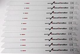 "Bosch SRD12 12"" x 10/14T BiM Rescue & Demolition Reciprocating Blades 10... - $21.78"