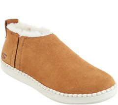 Skechers Go Vulc 2 Women's Suede Faux Fur Booties -Savvy Chestnut 5.5 M - $44.54