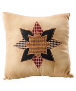 """Small QUILTED STARBURST THROW PILLOW Farmhouse Country Primitive Rustic 7"""" - $100.00"""