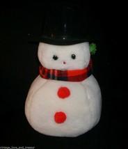 """14"""" VINTAGE CHRISTMAS EDEN TOYS SNOWMAN SNOW MAN STUFFED ANIMAL PLUSH TO... - $32.73"""