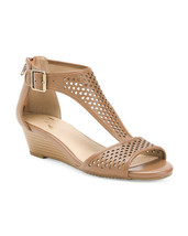 New Aerosoles Brown Leather Wedge Comfort Sandals Size 8.5 W Wide - $29.99