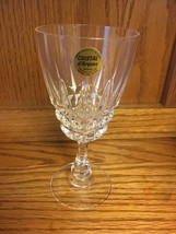 Water Glass Goblet Cristal D'Arques Crystal Pompadour Design France - $8.99