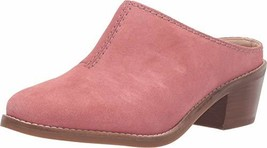 Cole Haan Women's ANDI Mule Loafer, Dark Pink Suede, 8 B US - $54.53