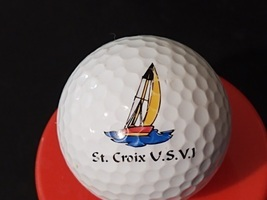 Advertising Logo Golf Ball Collectible St. Croix US Virgin Islands - £10.19 GBP
