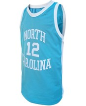 Phil Ford #12 College Basketball Custom Jersey Sewn Light Blue Any Size image 4