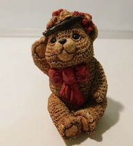 "Vtg UNITED DESIGN Stone Critter Littles SCL-023 BOY TEDDY  2.5"" - $5.94"