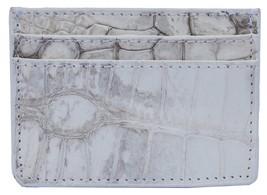 Wonderful Gull Grey Many Card Slots Sterling Crocodile Leather Men Card Wallet - $176.39