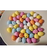 50 PASTEL SPECKLED Eggs Easter Craft Shabby Chic Birds Nest Decor Foam B... - $6.99