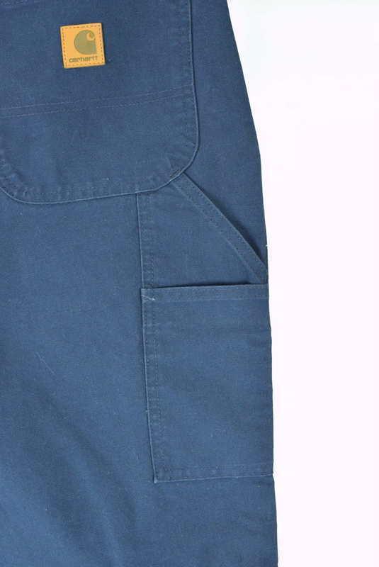 NWT CARHARTT Blue Cotton Dungaree Fit Carpenter Work Pants Mens Size 44 x 32 image 8