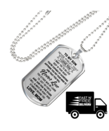 Love Mom To Son Luxury Gift Dog Tags From Mother Mommy, Birthday Presents - $29.65+