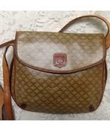Vintage Celine Beige Macadam Handbag Crossbody 9.5in x 8.5in x 1.5in - $185.20