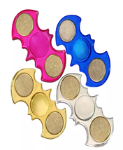 Fidget Spinner Metal Batman Shape - 1x w/Random Color and Design