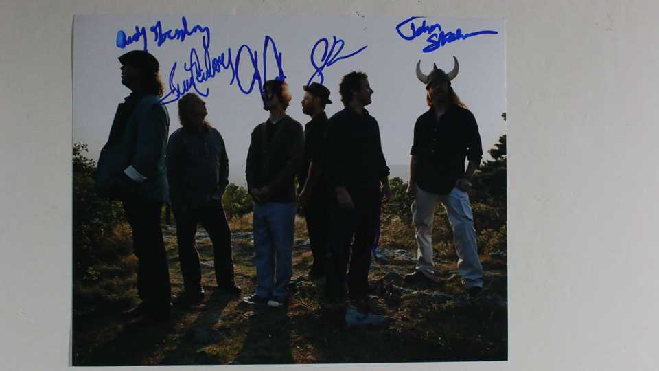 Primary image for Railroad Earth Band Signed Autographed Glossy 8x10 Photo