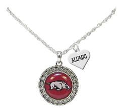 Custom Arkansas Razorbacks Silver Necklace Jewelry Choose Alumni or Fami... - $16.14