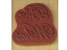 Anita's Best Wishes Wood Mounted Rubber Stamp image 2