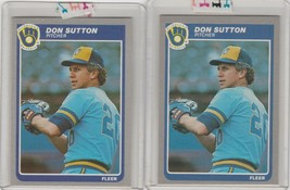 1985 Fleer  #598 Don Sutton  Lot of 2 - $1.10