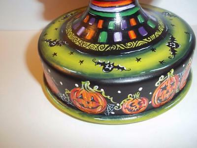 Fenton Glass OOAK Black Halloween Pumpkins Sitting Cat on Font by Sunday Davis