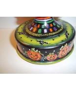 Fenton Glass OOAK Black Halloween Pumpkins Sitting Cat on Font by Sunday... - $338.53