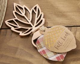 Copper Fall Autumn Leaf Bottle Opener Anniversary Bridal Wedding Favor - $90.20+