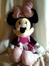 """Disney Pink Minnie Mouse Talking Plush Toy Bow Lights Up 17"""" Doll - $12.52"""