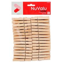 60 CT Clothes Pins Natural Wood Wash Clips Hook Metal Spring Durable  - $7.28