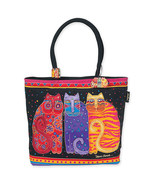 Laurel Burch Flowering Cats Beach Style Canvas Tote Bag - $44.54