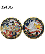 US Thank You Veterans Past And Present Never Forget Souvenir Coin Milita... - $5.50