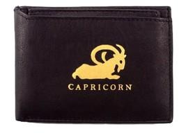 Genuine Leather Bi-fold Men's Capricorn Zodiac Wallets - Style mw1346-1 - $20.86