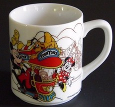 Tokyo Disneyland Toontown Mug Mickey Mouse Minnie Mouse Trolley First Year 1996  - $20.33