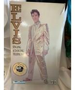1998 Tele Mania Elvis Presley GOLD SUIT Singing & Dancing Telephone EPE ... - $68.00
